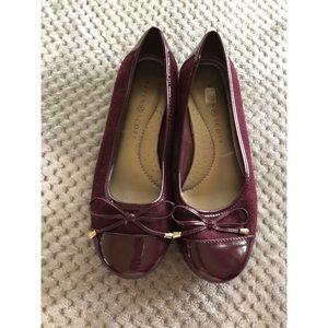 Karen Scott Burgundy Ballet Flat Shoes 8.5